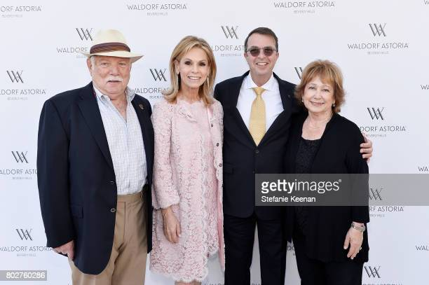 Peter Landau Adele Alagem Beny Alagem and Marilyn Landau attend Waldorf Astoria Beverly Hills Grand Opening Celebration on June 28 2017 in Beverly...