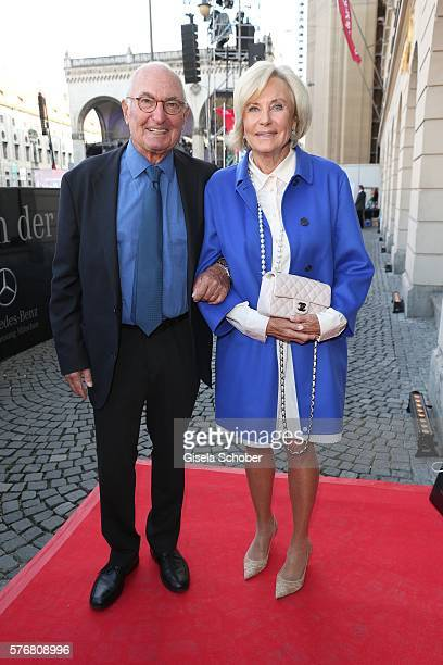 Peter Lanz and his wife Inge Wrede Lanz during the Mercedes-Benz reception at 'Klassik am Odeonsplatz' 2016 on July 17, 2016 in Munich, Germany.