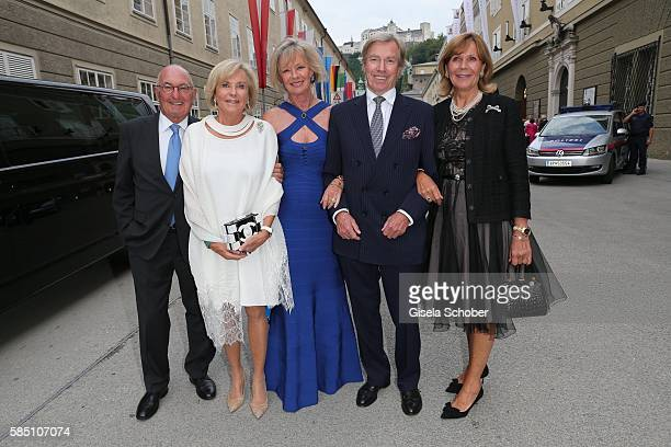 Peter Lanz and his wife Inge WredeLanz Charlotte von Bismarck Schoenhausen Prince Leopold Poldi of Bavaria and his wife princess Ursula Uschi of...