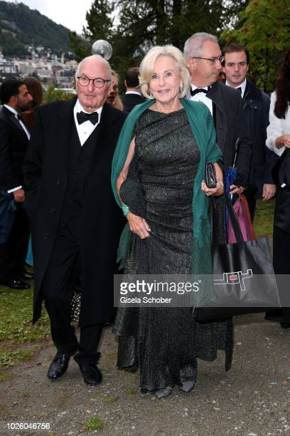 Peter Lanz and his wife Inge WredeLanz during the wedding of Prince Konstantin of Bavaria and Princess Deniz of Bavaria born Kaya at the french...