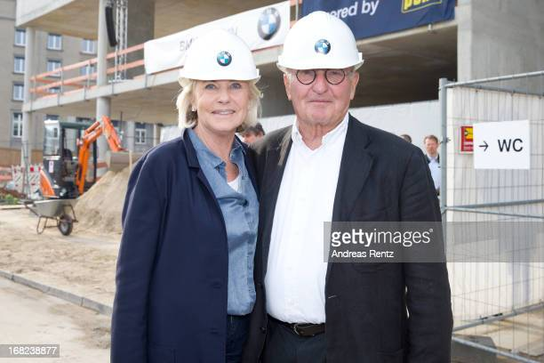 Peter Lanz and Inge WredeLanz attend roofing ceremony at BMW new Berlin location at BMW Niederlassung Berlin on May 7 2013 in Berlin Germany