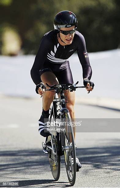 Peter Latham of New Zealand in action during the U23 World Time Trial Championship on the Circuito Casa de Campo on September 21 in Madrid, Spain.