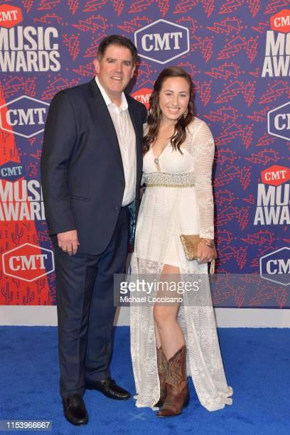 Peter Laviolette and Elisabeth Laviolette attend the 2019 CMT Music Awards - Arrivals at Bridgestone Arena on June 05, 2019 in Nashville, Tennessee.
