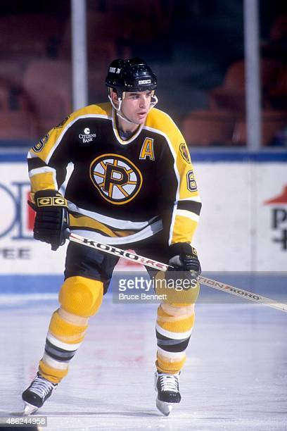 Peter Laviolette of the Providence Bruins skates on the ice during an AHL game in January 1996