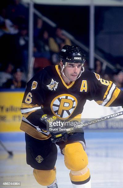 Peter Laviolette of the Providence Bruins skates on the ice during an AHL game circa 1995.