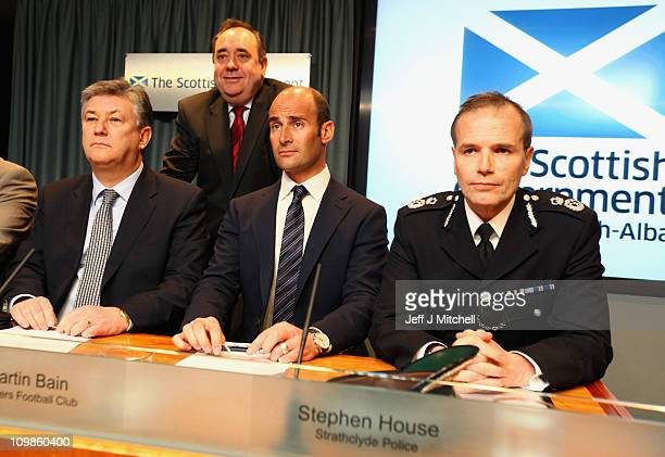 Peter Lawell chief executive of Celtic Martin Bain chief executive of Rangers Stephen House Strathclyde Police Chief Constable and Alex Salmond...