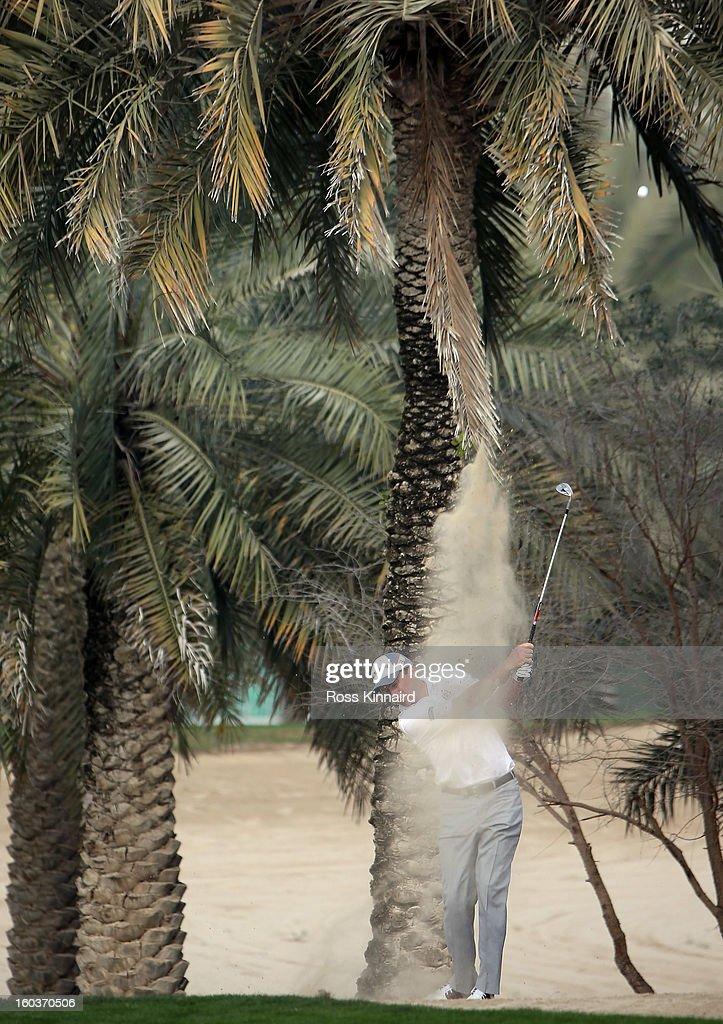 Peter Lawrie of Ireland during the pro-am event prior to the Omega Dubai Desert Classic on January 30, 2013 in Dubai, United Arab Emirates.