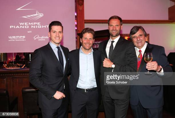 Peter Leuschner Brand Manager Deutschland Glashuette Original Philip Greffenius Edition Sportiva Marc Autmaring and Peter Pongratz during the piano...