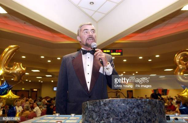 Peter Lewis from the Castle Bingo in Cardiff winner of the Bingo Caller of the Year Award shows his calling skills at the Mecca Bingo in Wandsworth...
