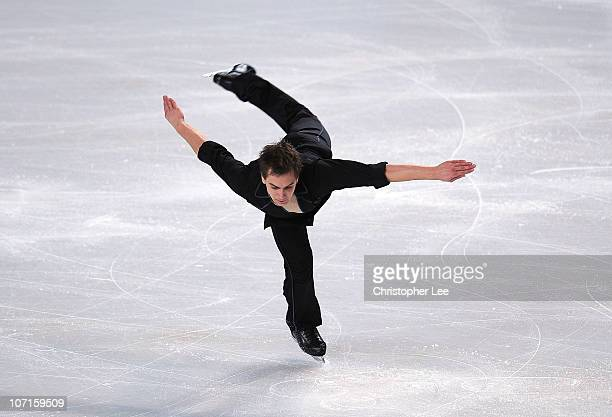 Peter Liebers of Germany performs in the Men's Short Program during the ISU GP Trophee Eric Bompard 2010 at the Palais omnisport de Paris Bercy on...