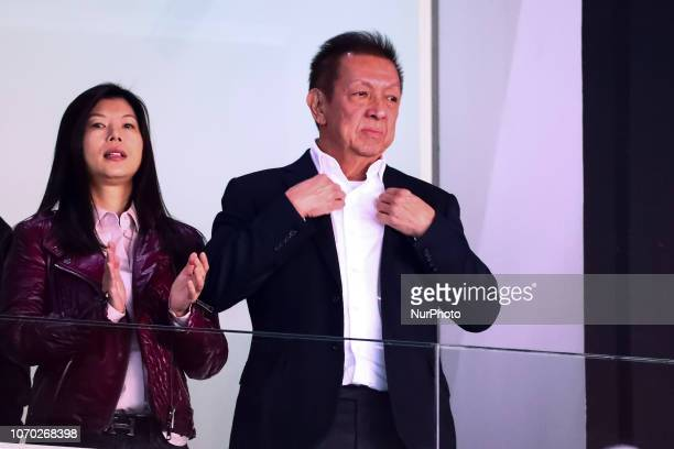 Peter Lim and his wife Cherie Lim before spanish La Liga match between Valencia CF v Sevilla FC at Mestalla Stadium on December 8, 2018.