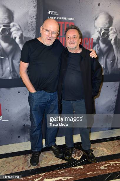 Peter Lindbergh and french director JeanMichel Vecchiet attend the 'Peter Lindbergh Women Stories' world premiere after show party during the 69th...