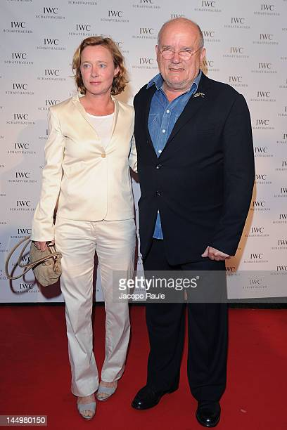 Peter Lindbergh and his wife Petra attend IWC Filmmakers Dinner At Eden Roc Red Carpet Arrivals 65th Annual Cannes Film Festival at Hotel Du CapEden...