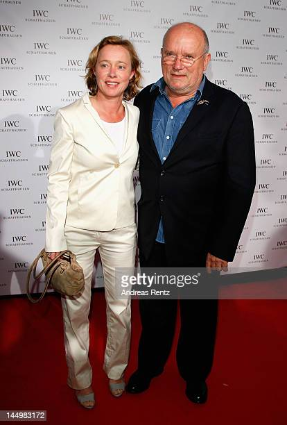 Peter Lindbergh and his wife Petra Lindbergh arrive at the exclusive Filmmakers Dinner during the Cannes International Film Festival hosted by Swiss...
