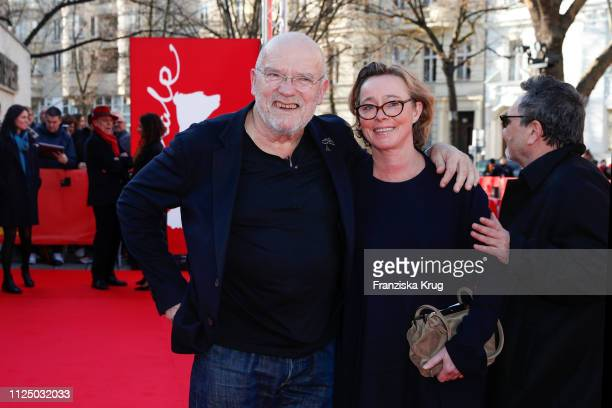 Peter Lindbergh and Petra Lindbergh during the Peter Lindbergh Women Stories premiere during the 69th Berlinale International Film Festival Berlin at...