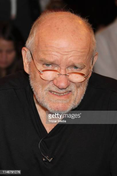 Peter Lindbergh during the Markus Lanz TV show on May 28 2019 in Hamburg Germany