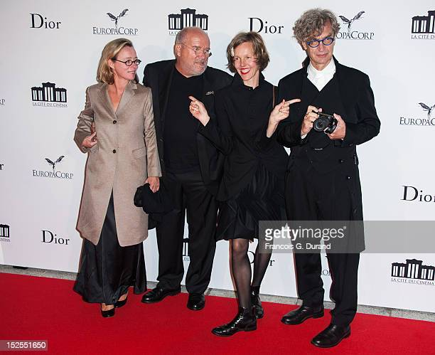 Peter Lindbergh his wife Petra Lindbergh and Wim Wenders and his wife Donata Wenders attend 'La Cite Du Cinema' Launch on September 21 2012 in...