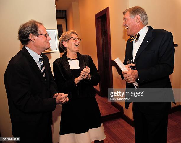 Peter Lloyd Ontario Premier Kathleen Wynne and Torstar Chair John Honderich Canadian News Hall of Fame annual induction ceremony and dinner at...