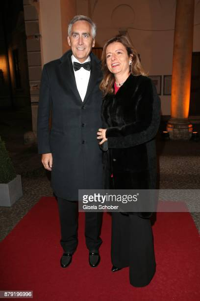 Peter Loescher and his wife Marta Loescher during the 80th birthday party of Roland Berger at Cuvillies Theatre on November 25 2017 in Munich Germany