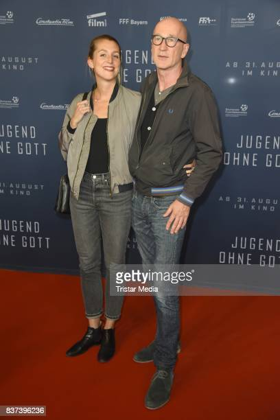 Peter Lohmeyer and his girlfriend Leonie Seifert attend the premiere of 'Jugend ohne Gott' at Zoo Palast on August 22 2017 in Berlin Germany