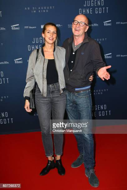 Peter Lohmeyer and Leonie Seifert attend the premiere of 'Jugend ohne Gott' at Zoo Palast on August 22 2017 in Berlin Germany