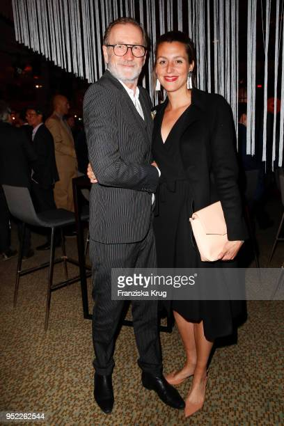 Peter Lohmeyer and Leonie Seifert during the Lola German Film Award Party at Palais am Funkturm on April 27 2018 in Berlin Germany
