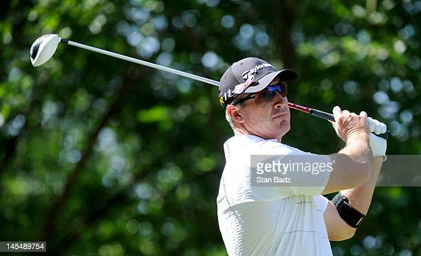 Peter Lonard hits a drive on the fifth hole during the third round of the BMW Charity ProAm presented by SYNNEX Corporation at the Thornblade Club on...