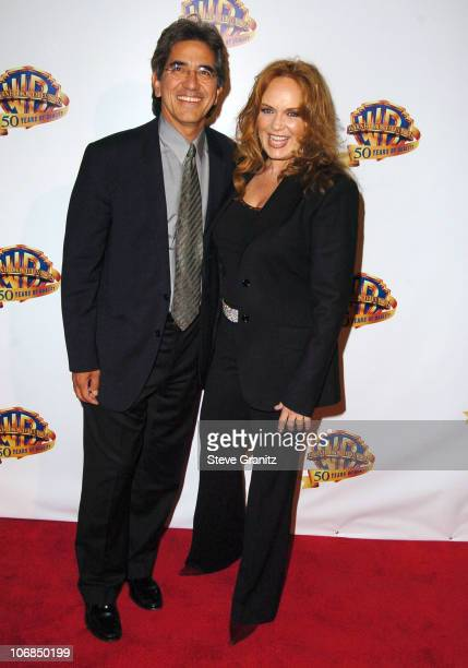 Peter Lopez and Catherine Bach during Warner Bros Television And Warner Home Video Celebrate 50 Years Of Quality TV Arrivals at Warner Bros Studio in...