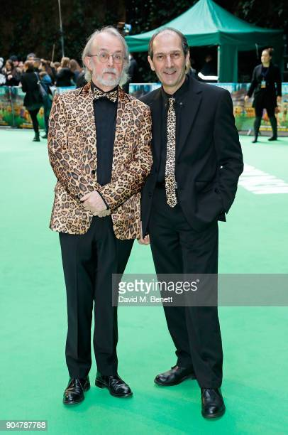 Peter Lord and David Sproxton attend the World Premiere of 'Early Man' at BFI IMAX on January 14 2018 in London England
