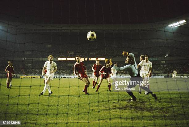 Peter Lorimer has a goal disallowed for Leeds in the 62nd minute when Billy Bremner was adjudged to be offside as Franz Beckenbauer and goalkeeper...