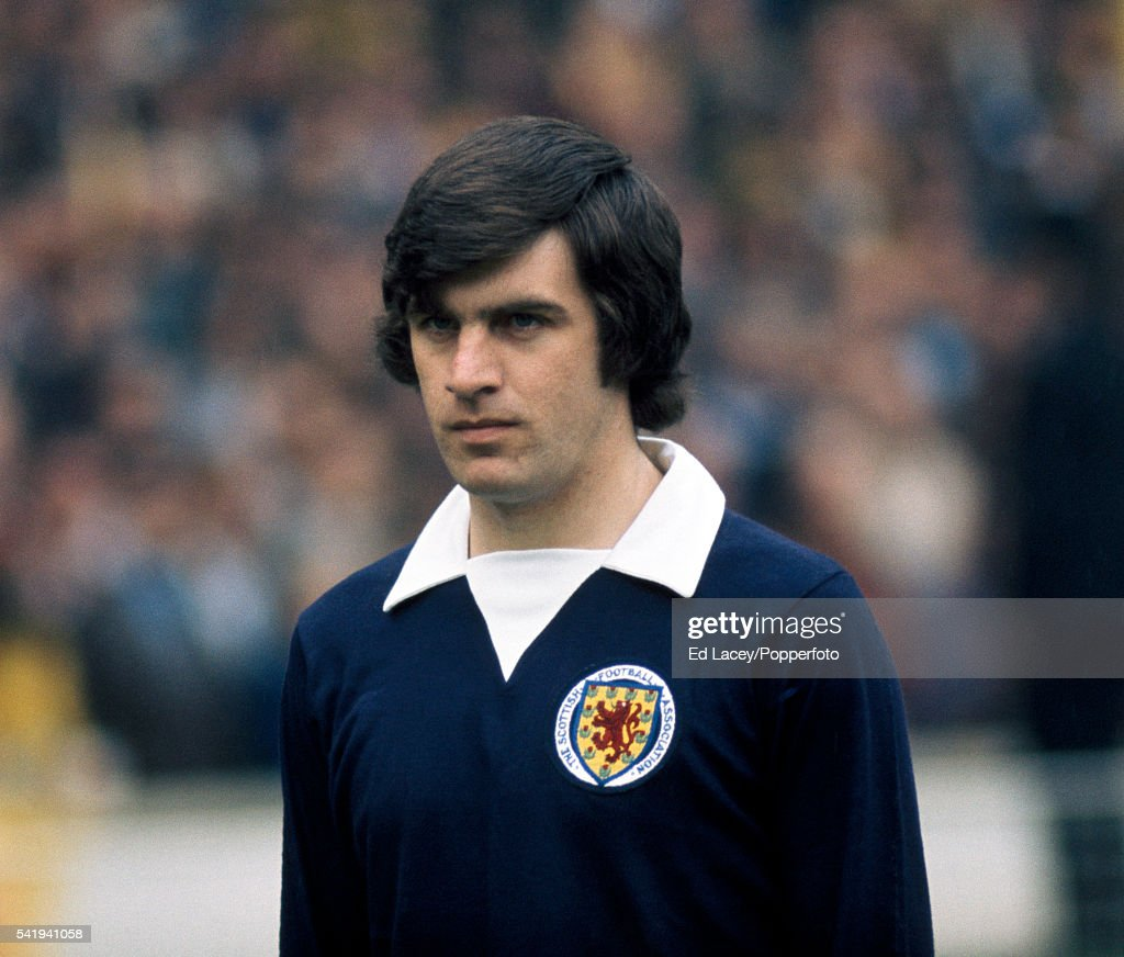 Peter Lorimer of Scotland during the England versus Scotland international football match at Wembley Stadium in London on 19th May 1973. England beat Scotland 1-0.