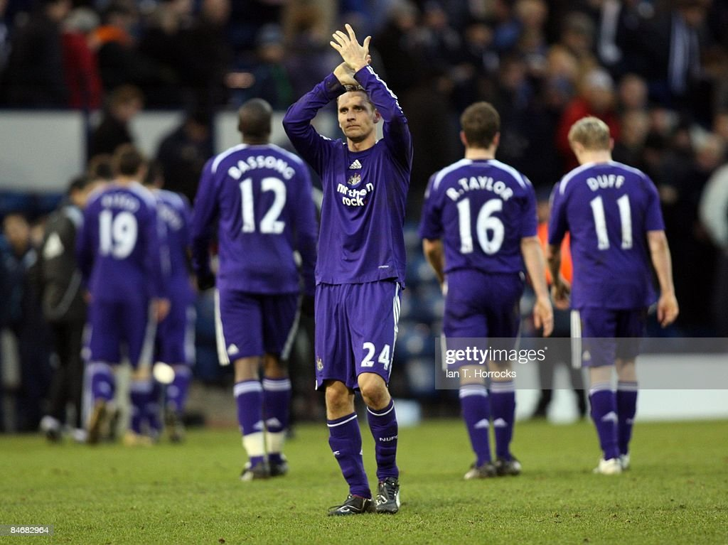 Peter Lovenkrands during the Barclays Premier League game between West Bromwich Albion and Newcastle United at the Hawthorns on February 07, 2009, in West Bromwich, England. (Photo by Ian Horrocks/Newcastle United via Getty Images) Newcastle-upon-Tyne, England.