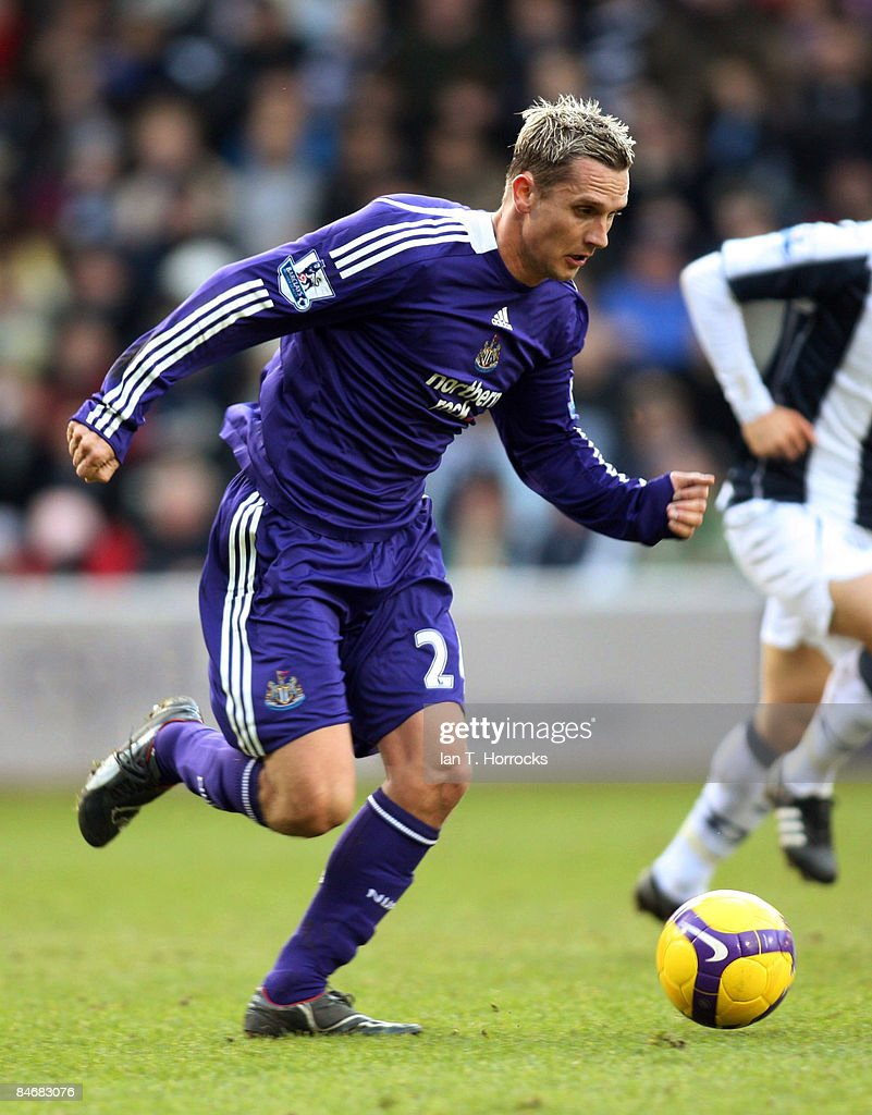 Peter Lovenkrands during the Barclays Premier League game between West Bromwich Albion and Newcastle United at the Hawthorns on February 07, 2009, in West Bromwich, England.