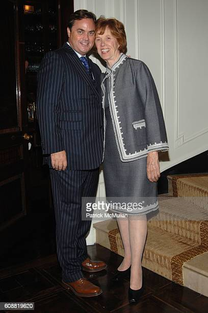 Peter Lyden and Peggy Flesher attend AMERICAN BALLET THEATRE'S Dinner with Dancers at The homes of Julia and David Koch on October 1 2007 in New York...