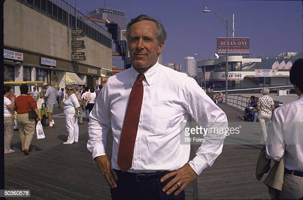 Peter M Dawkins Republican candidate for the US Senate standing on the boardwalk