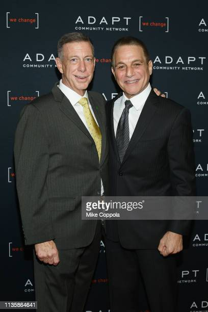 Peter M Meyer and Tony Danza attend the 2019 2nd Annual ADAPT Leadership Awards at Cipriani 42nd Street on March 14 2019 in New York City