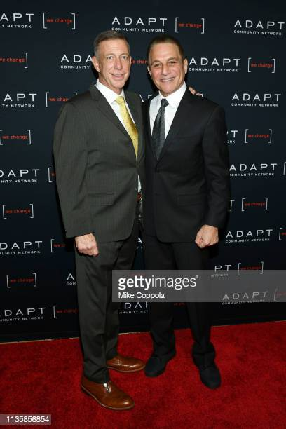 Peter M Meyer and Tony Danza attend the The 2019 2nd Annual ADAPT Leadership Awards at Cipriani 42nd Street on March 14 2019 in New York City