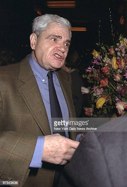 Peter Maas enjoys a chat at the Balthazar restaurant where a reception was held honoring Toni Morrison's new novel Paradise