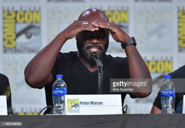Peter Macon speaks at The Orville Panel during 2019 ComicCon International at San Diego Convention Center on July 20 2019 in San Diego California
