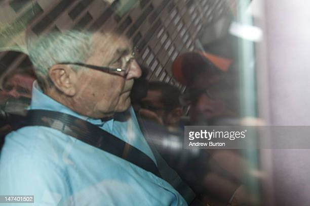 Peter Madoff brother of the infamous financial criminal Bernard Madoff is driven out of Jacob K Javits Federal Building after being taken in to...