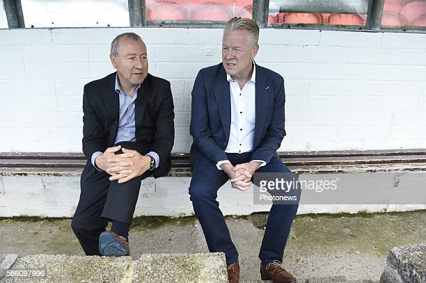 Peter Maes head coach of Krc Genk and Pierre Denier assistant coach of Krc Genk pictured during UEFA Europa League third qualifying round 2nd Leg...