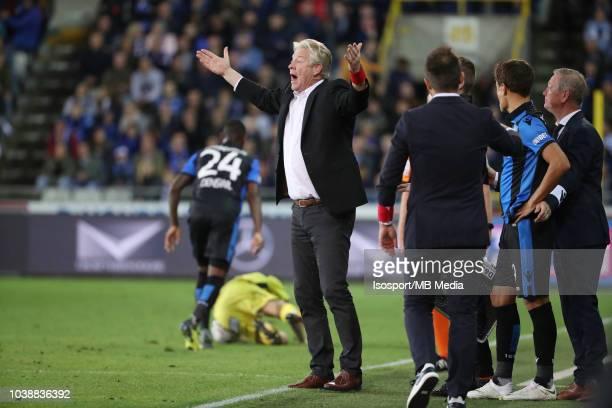 Peter Maes reacts during the Jupiler Pro League match between Club Brugge and KSC Lokeren OV at Jan Breydel Stadium on September 14 2018 in Brugge...