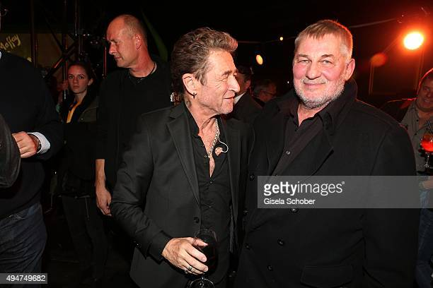 Peter Maffay and Heinz Hoenig during the 'Tabaluga - Es lebe die Freundschaft' record release at Das Schloss on October 28, 2015 in Munich, Germany.