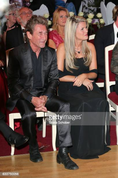 Peter Maffay and his girlfriend Hendrikje Balsmeyer during the Semper Opera Ball 2017 at Semperoper on February 3 2017 in Dresden Germany