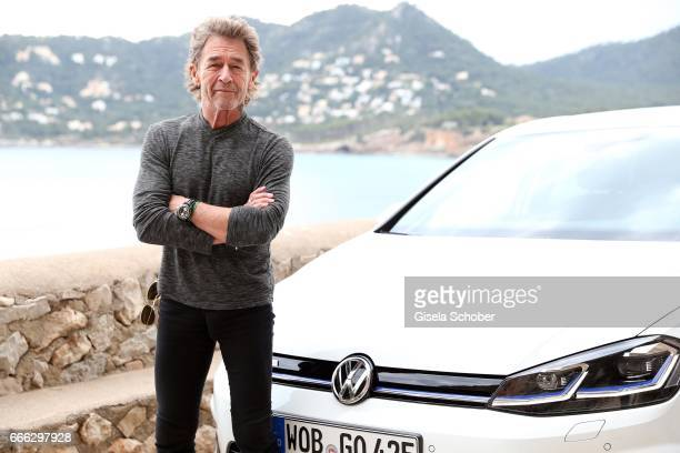 Peter Maffay during the international driving presentation of the new Volkswagen Golf electric car on April 5 2017 in Mallorca Spain