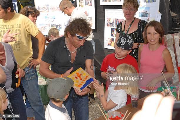 """Peter Maffay , Fans, Gäste, Kinder, Hoffest-""""Tag der offenen Tür"""", Öko-Finca Caœn Sureda bei Pollenca, Insel Mallorca, Balearen, Spanien, Europa,..."""