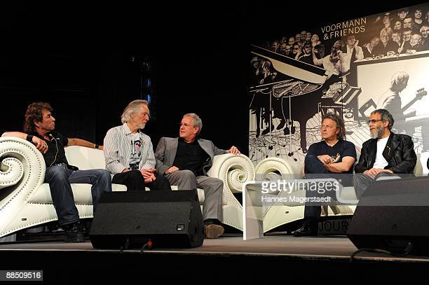 Peter Maffay Klaus Voormanns Fritz Egner Wolfgang Niedecken and Yusuf Islam formerly known as Cat Stevens attend the presentation of Klaus Voormanns...