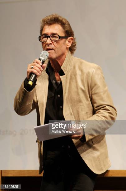 Peter Maffay speaks about his projects during the Nachhaltigkeitspreis Gala at Maritim Hotel on November 4 2011 in Duesseldorf Germany