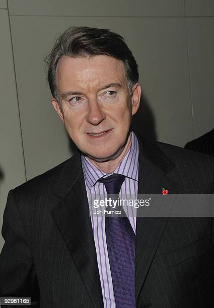Peter Mandelson attends the London Evening Standard Influentials Party at Burberry on November 10 2009 in London England
