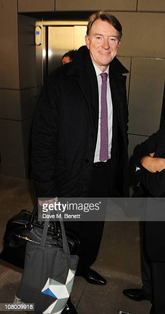 Peter Mandelson attends the Wallpaper Design Awards 2011 at The Edison on January 12 2011 in London England